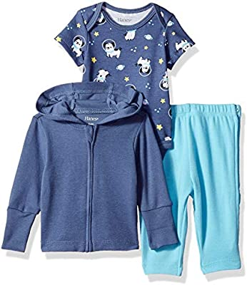 f6ae47945 Hanes Ultimate Baby Zippin Pants and Knit Hoodie with Short Sleeve ...