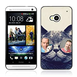 CaseLord Carcasa Funda Case - HTC ONE ( M7 ) / Funny Glasses Bad Chemistry /