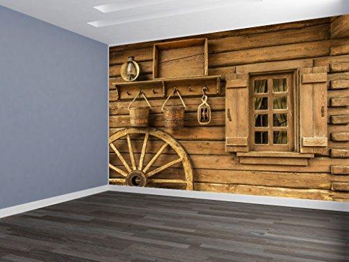 Wagon Wheel Scene REMOVABLE WALLPAPER, WALL DECOR, CUSTOM DESIGN, WALL MURAL ()