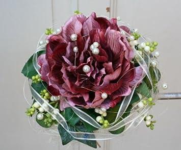Brautstrauss Biedermeier Seidenblumen Rosen Strauss Hochzeit Farbe