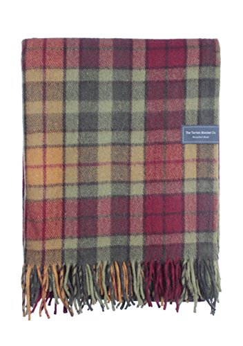 The Tartan Blanket Co. Recycled Wool Blanket Buchanan Autumn Tartan (68