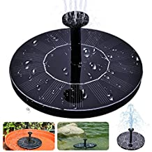 Solar Bird Bath Fountain,maxin Free Standing 1.4W Solar Panel Kit Water Pump, Outdoor Watering Submersible Pump for Bird Bath,Fish Tank,Small Pond, Garden Decoration