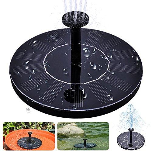 Solar Bird Bath Fountain,maxin Free Standing 1.4W Solar Panel Kit Water Pump, Outdoor Watering Submersible Pump for Bird Bath,Fish Tank,Small Pond, Garden Decoration