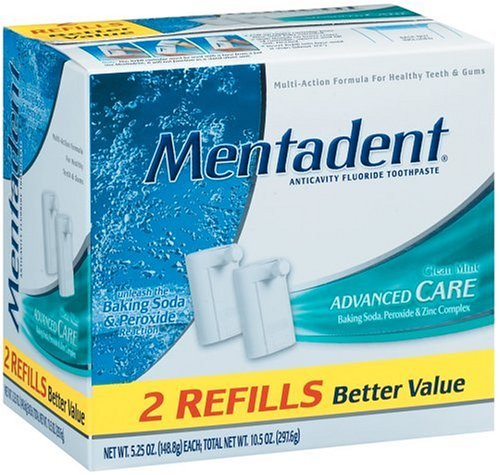 Mentadent Anticavity Fluoride Toothpaste 5 25 Ounce