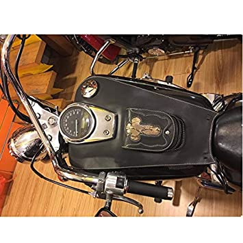 Gas Tank Motorcycle Bag Motorcycle Leather Gas Tank Bag Cover Pad with Pouch for Honda Shadow 750 04-11 C2 C4 RC50 Custom