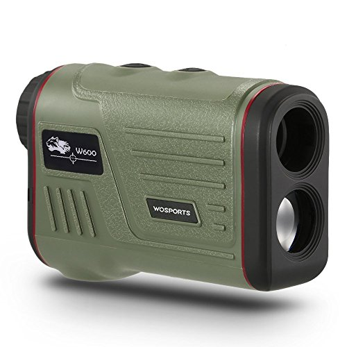 WOSPORTS Golf Rangefinder, Laser Range Finder with Slope, Golf Trajectory Mode, Flag-Lock and Distance/Speed/Angle Measurement - Golf Scope (Green Without Slope)