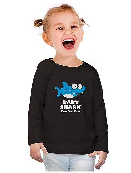 6f4c5cd6 Amazon.com: Baby Shark Doo doo doo Song Dance Funny Toddler Girls Fitted Long  Sleeve T-Shirt: Clothing