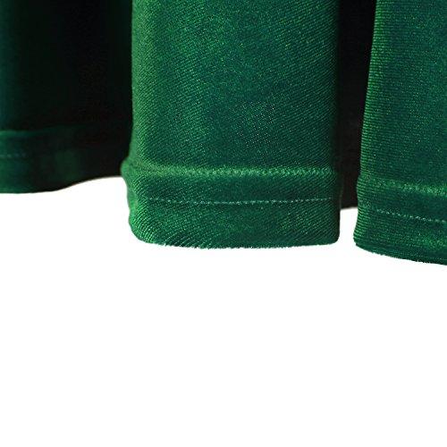 Urban GoCo Mini Falda Elástica Patinadora de Terciopelo de Retro verde oscuro