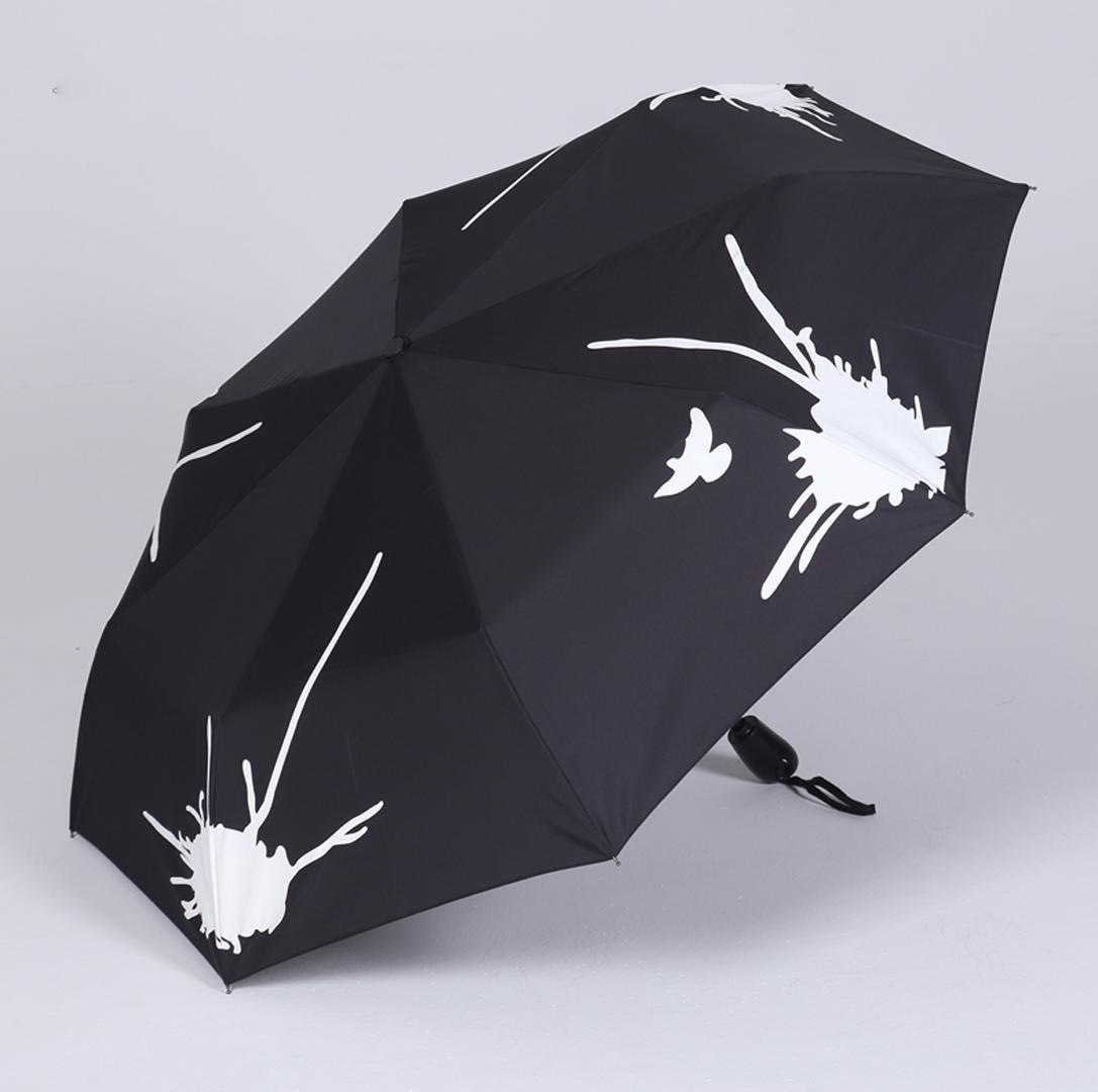 M&J Hembra Paraguas Plegable Paraguas Agua Flores Arco Iris ...
