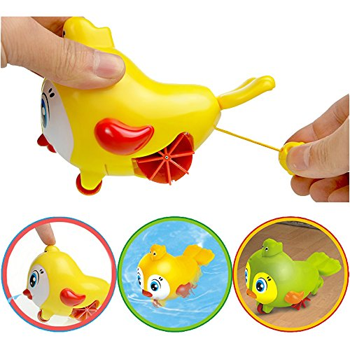 2016 Lovely bird groud toys,Amphibious Clockwork Dabbling Toy Baby bath water toy for kids,wind up bathtub toys,easy&funny bath time,for 3-60 months baby