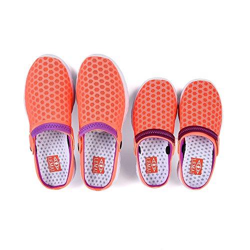 Footmat Unisex Donna Da Uomo Zoccoli Da Giardino Sandali Con Pistoni Ad Asciugatura Rapida Rosa