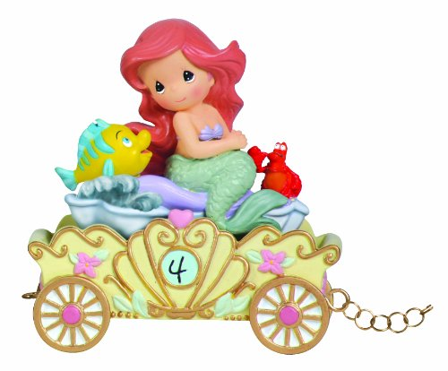 (Precious Moments, Disney Showcase Collection,  Make A Splash On Your Birthday, Disney Birthday Parade, Age 4, Resin Figurine,)