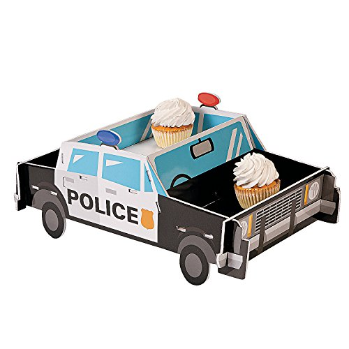 Foam Police Party Cupcake Holder