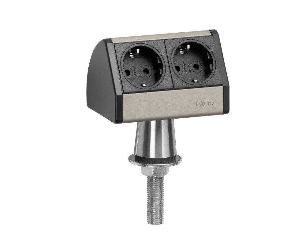 Unbekannt EVOline 93022055 Steckdosenleiste ohne Schalter 2fach ...