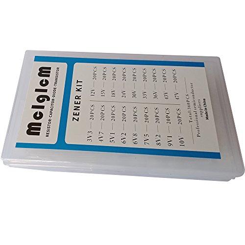 MCIGICM zener diode kit:0.5W zener diodes 18 Values Each 20pcs by McIgIcM