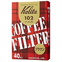 1 X Brown entered 40 pieces of Kalita coffee filter 102 filter paper (Japan Import)