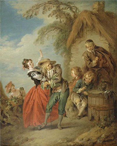 - Perfect Effect Canvas ,the High Definition Art Decorative Canvas Prints Of Oil Painting 'Jean-Baptiste Pater - The Village Orchestra, 1713-36', 30x38 Inch / 76x95 Cm Is Best For Hallway Decoration And Home Decor And Gifts