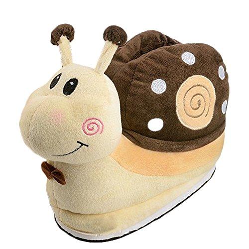 Lumaca Jltph Costume Unisex Anime Invernali Cartoni Marrone Halloween Peluche Cosplay Scarpe Pantofole Animati ZwwEH
