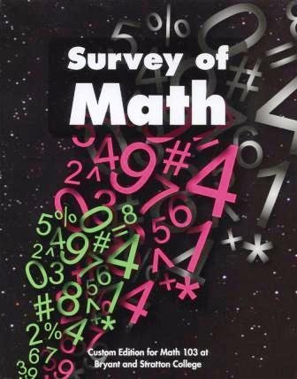 Survey of Math:  Custom Edition for Math 103 at Bryant and Stratton College pdf