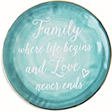 "Emmaline 84131 Pavilion Gift ""Family Where Life Begins and Love Never Ends"" Ceramic"