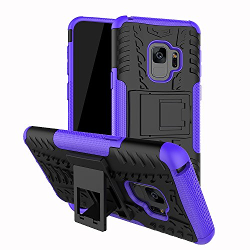 10' Tablet Zebra - Galaxy S9 Case, UZER Shockproof Hybrid Slim Dual Layer Rugged Rubber Hybrid Hard/Soft Impact Armor Defender Full Body Protective Case Cover With Kickstand for Samsung Galaxy S9 2018 Model