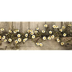 Rustic Country Primitive Tea Stained Daisy Garland Farmhouse Floral Decor 86