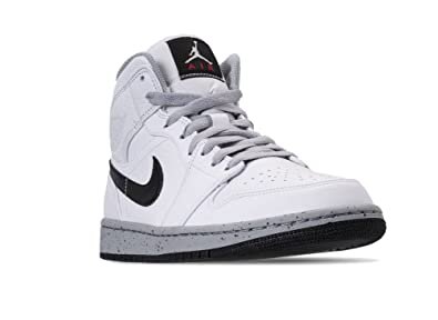 602bb1e526bbc5 Image Unavailable. Image not available for. Color  Jordan Mens AIR Jordan 1  MID White Black Wolf Grey ...