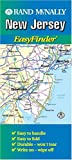 Rand McNally New Jersey Easyfinder Map (Durable)