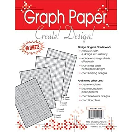 amazon com crafters helper needlework 8 5x11 graph paper 40 sheets