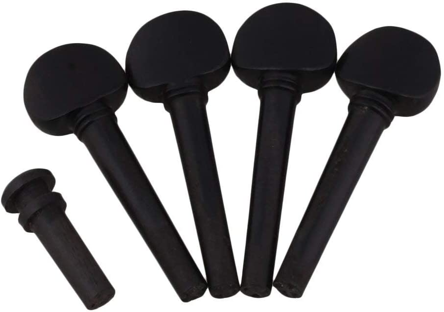 Lovermusic Ebony Tuning Pegs for 1//16 Violin String Instrument Accessories