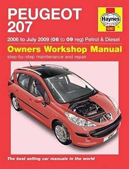 peugeot 207 petrol diesel 06 july 09 haynes repair manual rh amazon co uk