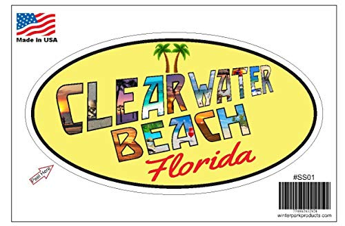 Clearwater Beach Florida Oval Vinyl Bumper Sticker Decal SS01 Wholesale Fundraiser 5