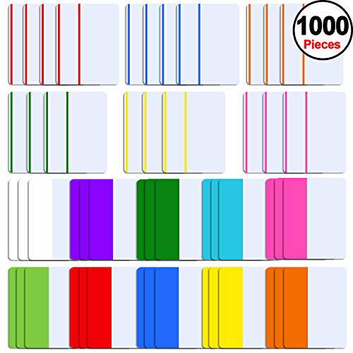 - SIQUK 1000 Pieces Tabs 2 Inch Sticky Tabs Index Tabs Colored Page Markers Tabs for Reading Notes, Books and File Folders, 50 Sets 16 Colors