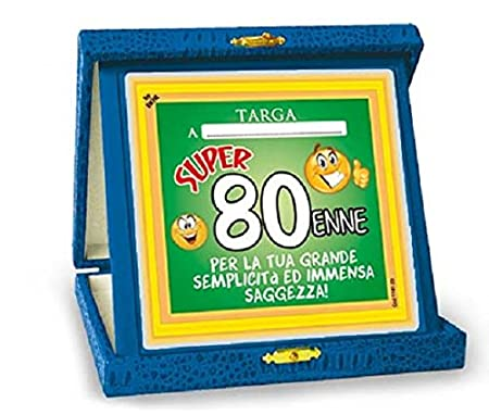 Regalo Compleanno Mamma 80 Anni.Targhetta Trofeo 80 Anni Gadget Idea Regalo Festa 80 Compleanno