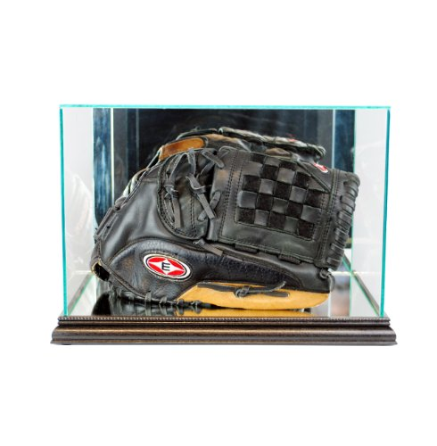 Perfect Cases MLB Rectangle Baseball Glove Glass Display Case, - Inch Gold 3/4 Glove