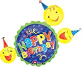 LuftBalloons 36 Inch Birthday Smiley Faces & Hats Balloon