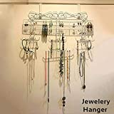 Premium White Jewelry Hanger with Branches and Rows