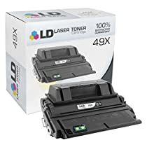 LD © Compatible Replacement for HP 49X / Q5949X HY Black Toner Cartridge for HP LaserJet 1320, 1320n, 3390 All-in-One, 1320t, 1320tn, 1320nw, & 3392 All-in-One