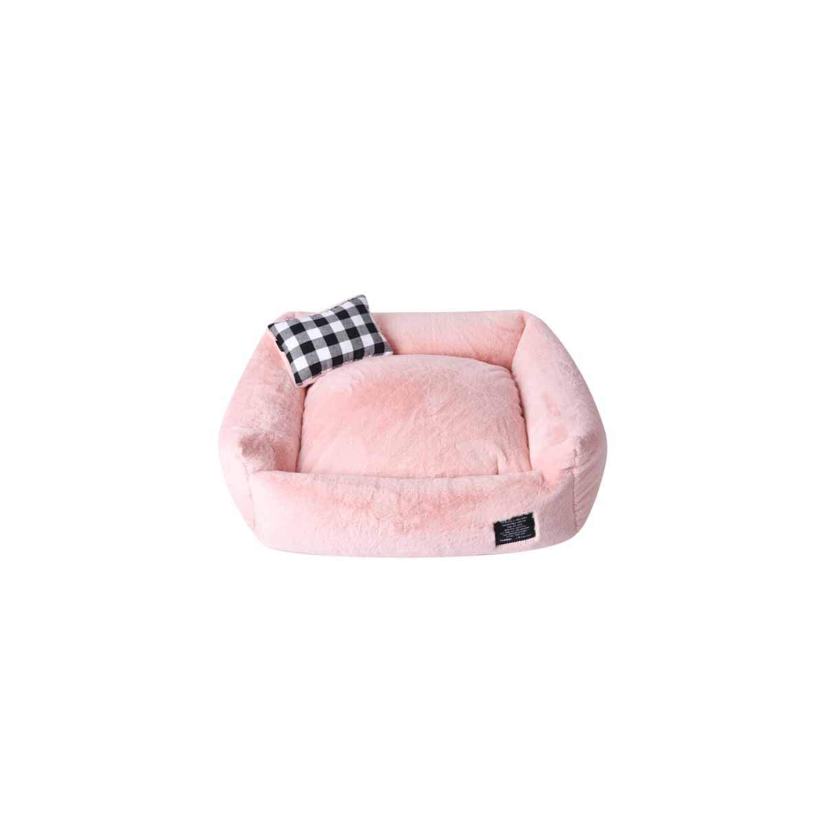 Cat Nest, Winter Kennel, Winter Warmth, Pet Teddy Small and Medium Dogs, Four Seasons Universal, Indoor Full Washable Bed, Peach Powder (color   Peach Powder, Size   L)