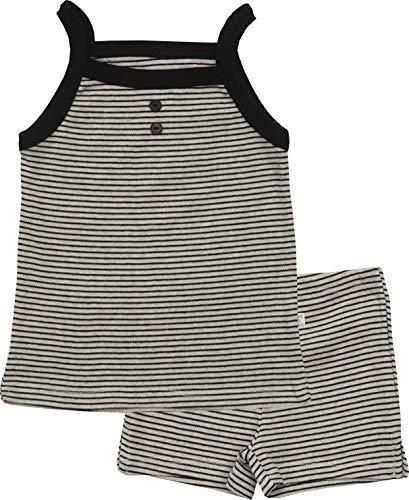 - AVAUMA Newborn Baby Little Boy Girl Stripe Sleeveless Pajamas Summer Short Sets Pjs Kids Clothes (XL/Ivory)