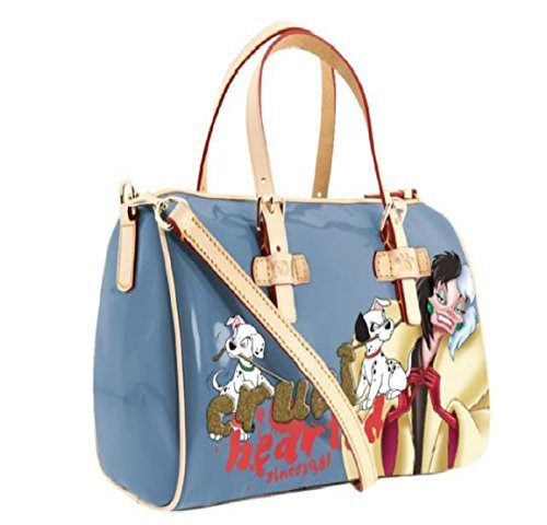 Disney 101 Dalmatians Cruella Handbag with Handles and Shoulder Strap (Blue)