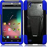zte quartz protective phone case - C-cover Case Compatible for ZTE Quartz Z797c Case, ZTE Quartz Z797c Premium Durable Rugged Shell Hybrid Protective Phone Case Cover with Built in Kickstand (Blue)