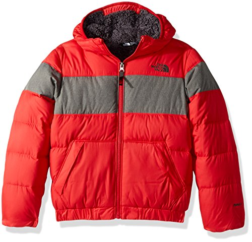 - The North Face Big Boys' Moondoggy 2.0 Down Hoodie - tnf red, s/7-8