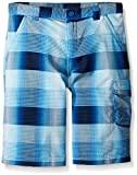 Columbia Boys Silver Ridge Printed Shorts, Super Blue Plaid, Medium