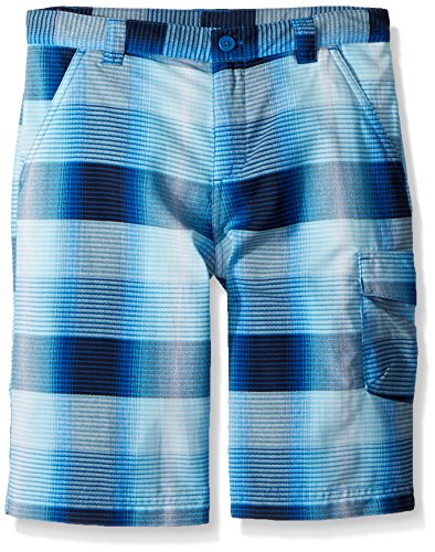 Columbia Boys Silver Ridge Printed Shorts, Super Blue Plaid, Medium by Columbia