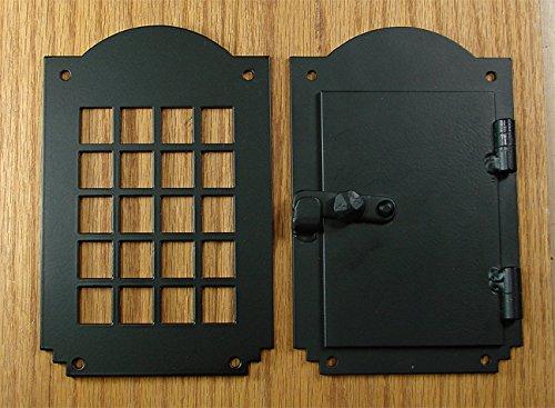 Iron Door Speakeasy Grille, Door Viewer, Rustic hardware, Arched Style (Arched Iron Door Gate)