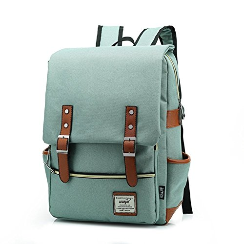 ONENICE Unisex Vintage Canvas Backpack Satchel Rucksack Daypack Shoulder...