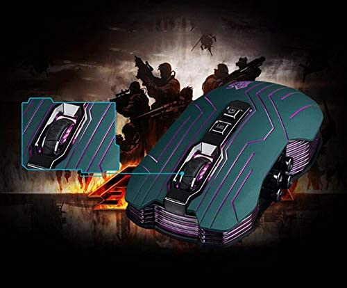 GXOK 9D 3200DPI Optical 2.4G Wireless Gaming Mouse and USB Receiver for Dota FPS Laptop PC