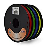 Octave 4 Color Red-Green-Blue-Yellow ABS Filament for 3D Printers – 1.75mm 1.3Kg Spool