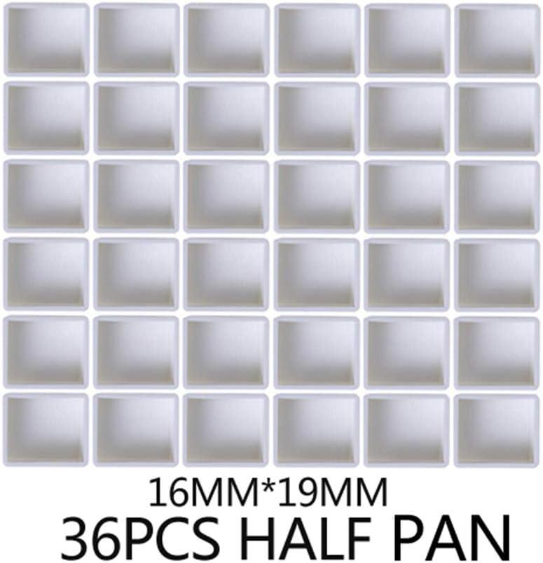 Half Pan 2ml 6pcs WLKK 6//12//24//36//48 Uds.Rejilla de Pigmento s/ólido vac/ía Completa//Media Bandeja Rejilla de Pigmento vac/ía de pl/ástico de 2 ml